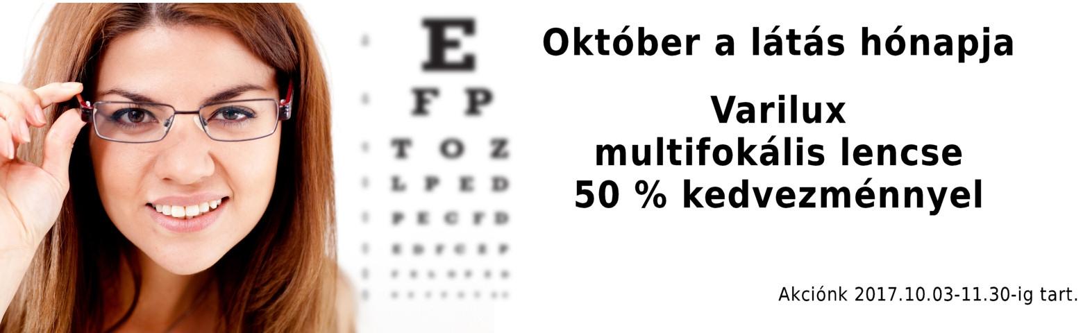Október a látás hónapja Varilux kedvezmény